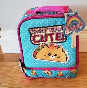 NWT Taco Bout Cute taco cat lunchbox
